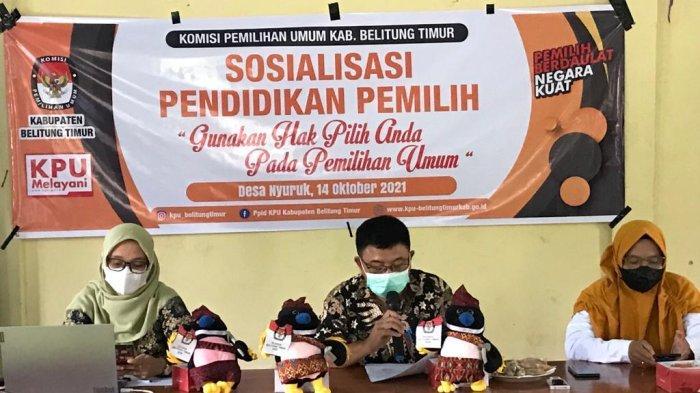 KPU Belitung Timur Tutup Sosialisasi dan Edukasi Pemilih di Kawasan Partisipasi Rendah