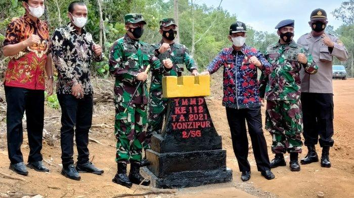 TMMD ke-112 di Belitung Timur Ditutup, Akses Jalan ke Wisata Batu Begalang Sudah Bisa Dilalui