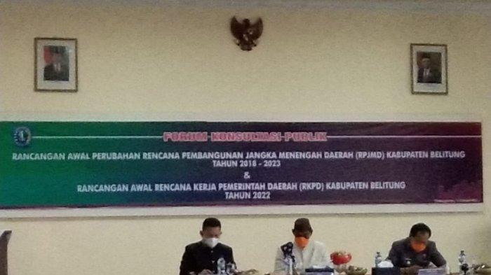 Ada Revisi RPJMD Pemerintah Kabupaten Belitung, Bupati Belitung Sebut Tidak Mengubah Visi Misi