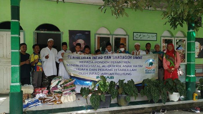 Sisihkan Seribu Sehari, Infaq Jariyah Belitung Perdana, Salurkan Kebutuhan Pokok ke Pondok Pesantren