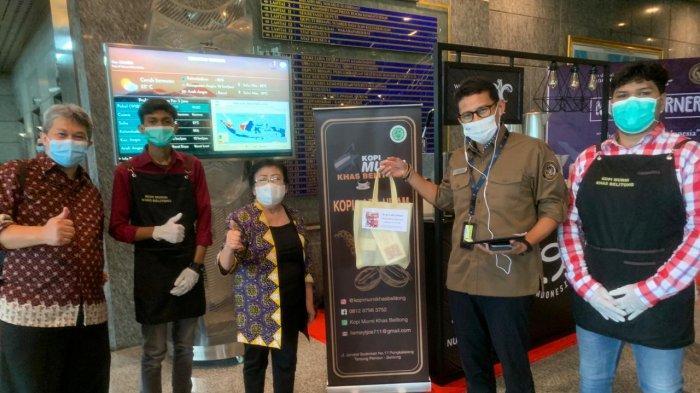 Pojok Kopi Lada Hitam Belitung di Kantor Kemenparekraf, Dicicipi Menteri Sampai Sekuriti