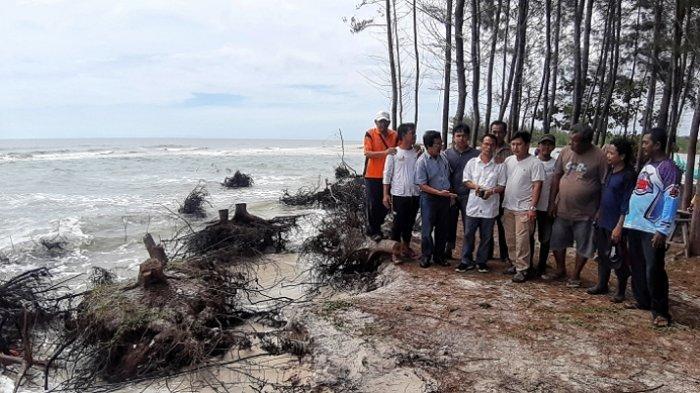 Kondisi Abrasi di Pantai Serdang Sudah Menahun Terjadi