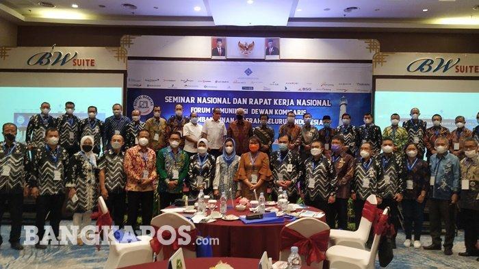 Tuan RumahSeminar Nasional dan Rapat Kerja Nasional Forum Komunikasi Dewan Komisaris BPDSI