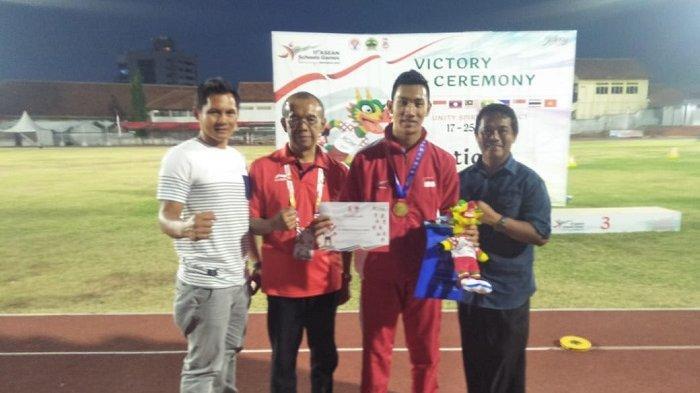 Ahmad Hambali, Atlet Babel Sumbangkan Emas untuk Indonesia di Asean School Games ke-11 Semarang