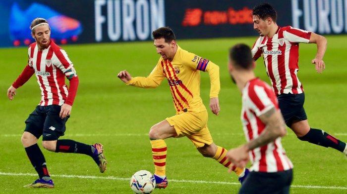 VIDEO Lionel Messi Nyaris Bikin Barcelona Kalah, Umpan Konyol ke Striker Bilbao Berujung Gol