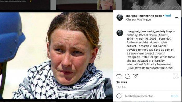 Tak Peduli Warga Amerika, Israel Lindas Rachel Corrie dengan Buldoser, Tewas Bela Rakyat Palestina