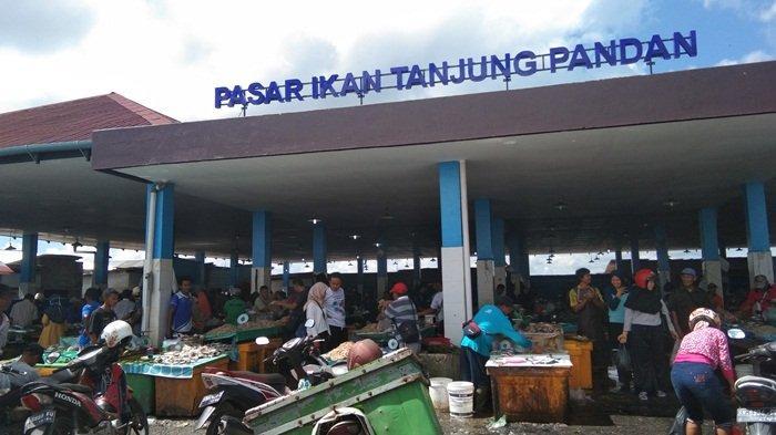 Dampak Virus Corona Ekspor Berhenti, Harga Ikan di Pasar Tanjungpandan Turun, Omset Pedagang Normal