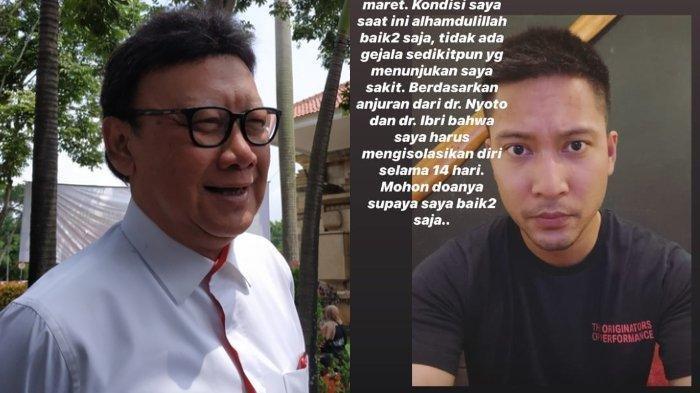 Aktor Detri Warmanto, Menantu Menteri Tjahjo Kumolo Positif Corona, Ungkap Tak Rasakan Gejala Apapun