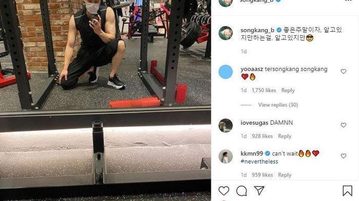 Song Kang Bikin Penggemar Auto Jatuh Hati Saat Pamer Body Kekar Saat Gym!