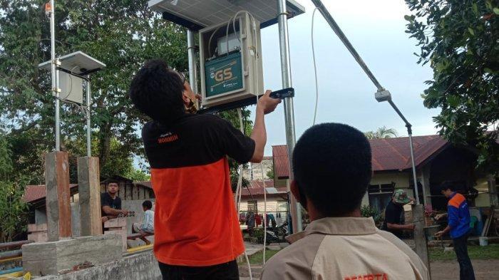 Alat Warning Sistem Banjir Terpasang di Kampung Amau