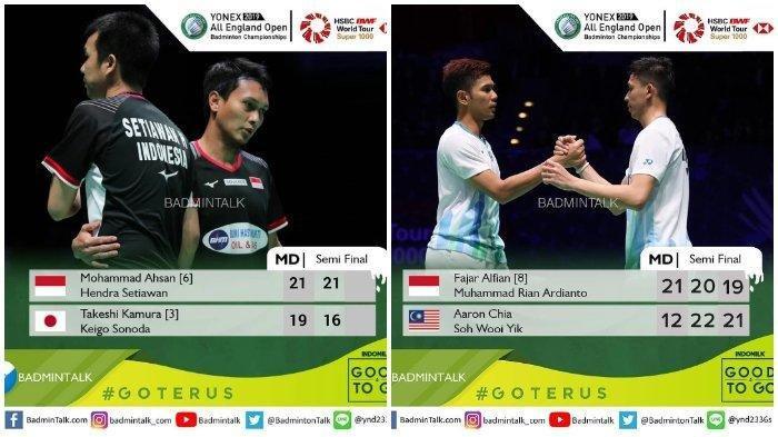 Final All England 2019 : Hendra/Ahsan vs Chia/Soh Wooi di Ganda Putra Hari Ini