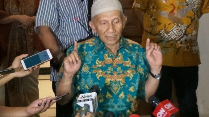 Amien Rais Tak Suka dengan Pemerintahan Jokowi-Maaruf Amin, Keluar dari PAN Lahirlah Partai Ummat