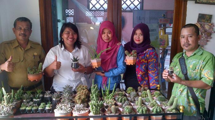Putri Bupati Belitung Tawarkan Sukulen Hias nan Cantik