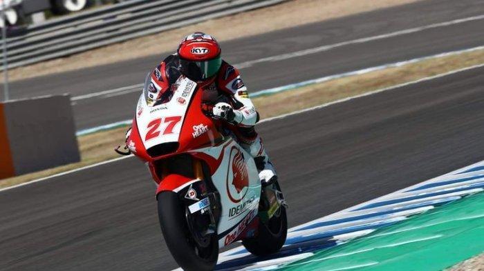 Makin Tajam, Selisih Waktu Pebalap Indonesia di Moto2 Andalusia Cuma 0,359 Detik dari Yang Tercepat