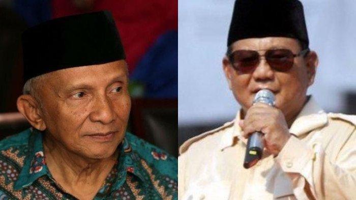 Amien Rais Bacakan Isi Surat dari Prabowo, Ungkap Alasan Bertemu Jokowi