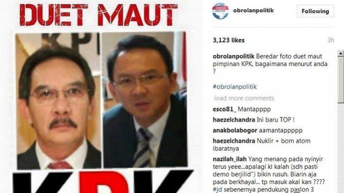 Beredar Foto Duet Maut Calon Pimpinan KPK
