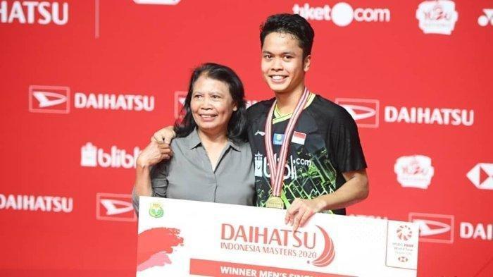 Meraih Juara Indonesia Masters 2020, Anthony Ginting: Bisa Ngasih Hadiah Buat Mama