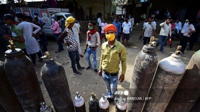 India Makin Mencekam Diserang Covid-19, Oksigen Dijual di Pasar Gelap, Rumah Sakit Kewalahan