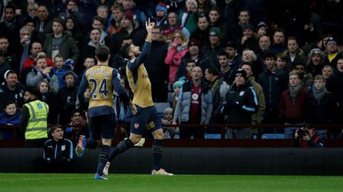 Menang Lawan Villa, Arsenal ke Puncak Klasemen Sementara