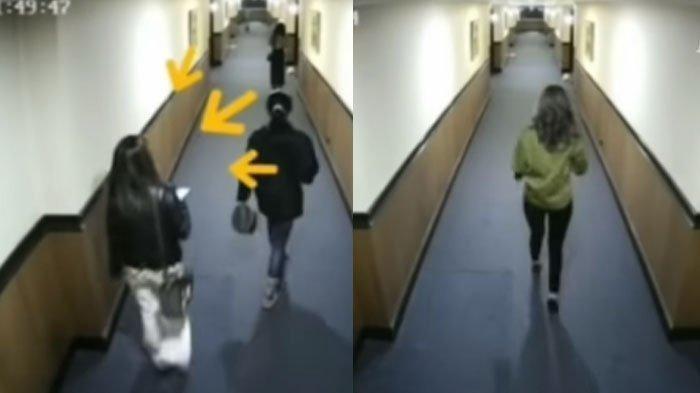 Artis ST dan MA yang tertangkap kamera CCTV sebelum melayani seorang pria di hotel. Ini alasan mereka ikut prostitusi