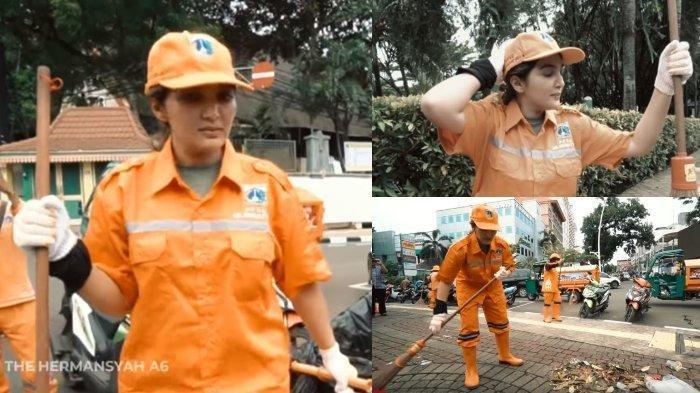 Istri Anang Hermansyah Jadi Pasukan Oranye, Ashanty Nyapu Sampah di Jalanan Ngaku 'Capek Banget'