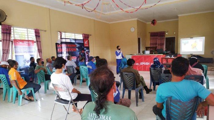 Tim Safety Riding Honda Asia Surya Perkasa Main Dealer Bangka Belitung kembali menggelar Safety Riding Education bertemakan Cari_Aman di hari yang Fitri Bersama Pemerintah Desa Batu penyu, Selasa (25/05/2021).