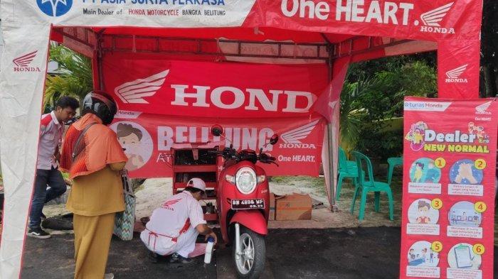 Stand ganti oli Honda ASP Belitung Bersama Kantor Dinas Pendidikan & Kebudayaan