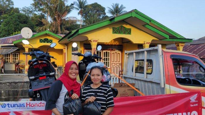 Honda ASP Belitung Gelar Service Ekonomis dan Pembagian Minyak Goreng di Tanjung Binga