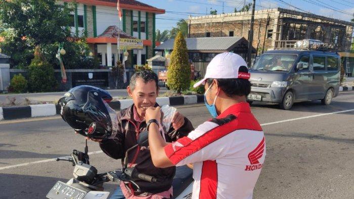 Honda ASP Belitung Tanjung pandan Mengedukasi New Normal