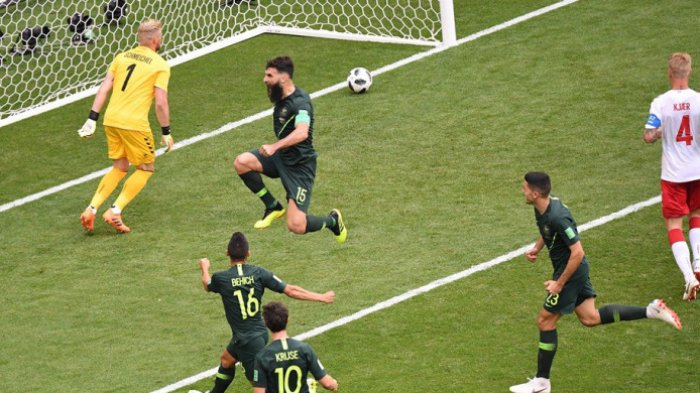 Imbangi Denmark Melalui Titik Putih, Asa Australia di Piala Dunia 2018 Masih Terbuka