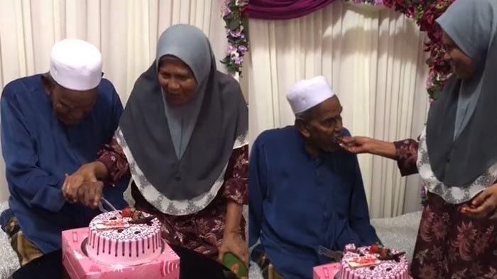 VIRAL Tiktok, Kakek Merajuk Gara-gara Nenek Tak Mau Dampingi saat Potong Kue Ulang Tahun