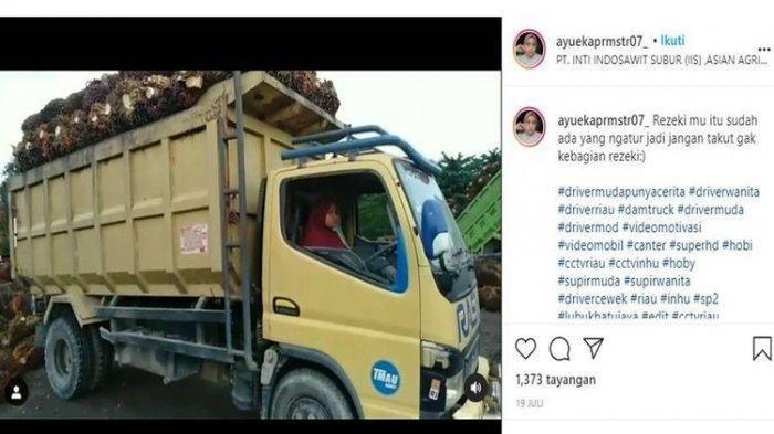 Gadis Jadi Sopir Truk Pengangkut Sawit Jadi Viral, Kisahnya Bikin Haru Berawal Ayahnya Kecelakaan