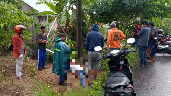 Seorang lelaki ditemukan sudah tak bernyawa di Jalan Padat Karya, RT 11, RW 04, Dusun Kerjan, Desa Air Merbau, Kecamatan Tanjungpandan, Kabupaten Belitung, pada Selasa (5/10/2021).