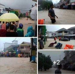 1.200 Rumah Warga di Kecamatan Muntok Terendam Air
