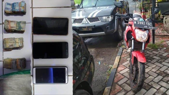 Barang bukti kasus wanita hamil curi uang toko sembako Rp 200 juta di Dusun Wates, Desa Wonomulyo, Poncokusumo, Kabupaten Malang, yang diamankan polisi.