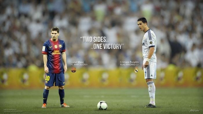 Messi dan Ronaldo Tertangkap Kamera Berjabat Tangan Tapi Canggung
