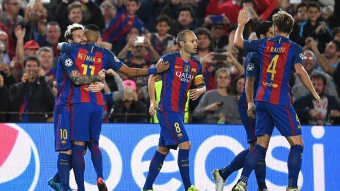 Barcelona Hujani Gol Manchester City, Diwarnai Dua Kartu Merah