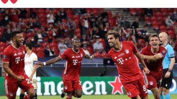 Hasil Piala Super Eropa, Aksi Pencetak Gol Spesialis Menit 100 Bikin Bayern Angkat Tropi