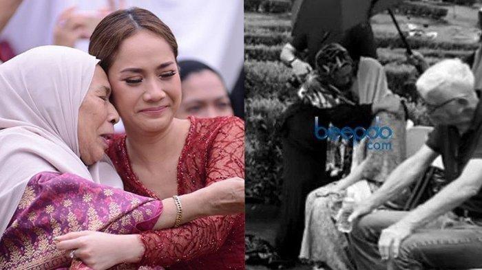 Tangis BCL Pecah di Pelukan Ibunda Ashraf saat Ziarah Hari ke-4, Unge Berlutut di makam Pusara Suami