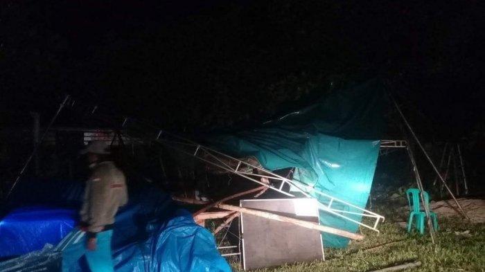 Dini Hari Tadi Petugas Kerepotan, Belasan TPS di Bangka Selatan Rusak Diguyur Hujan & Angin Kencang