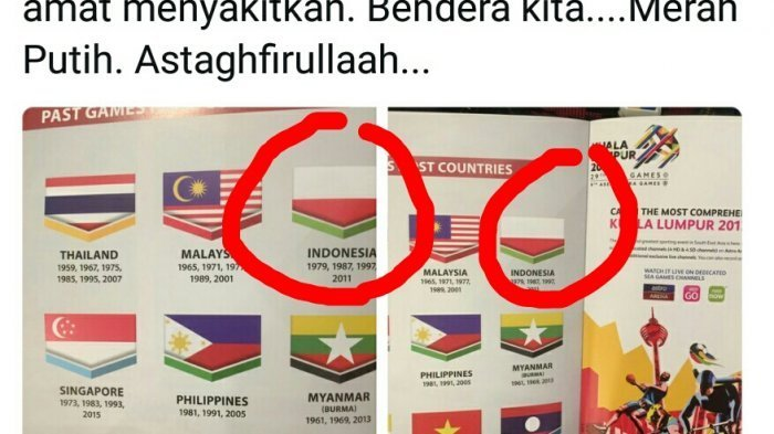 Soal Bendera Indonesia Terbalik, Polisi Malaysia Lakukan Ini