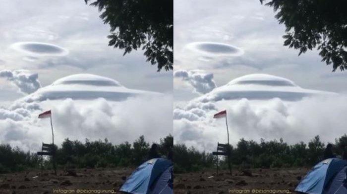 Beredar Video Gunung Sumbing Ditutupi Awan Mirip UFO, Begini Penjelasan BMKG
