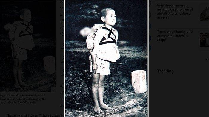 Sosok Bocah Korban Bom Atom Nagasaki Jepang yang Gendong Jenazah Adiknya ini Masih Jadi Misteri