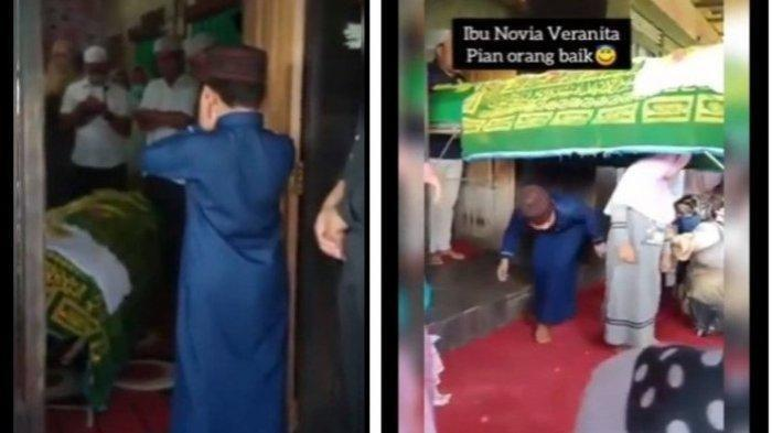 Video Bocah Laki-laki Tetap Tegar Saat Adzankan Jenazah Ibunda, Tangis Pelayat tak Terbendung