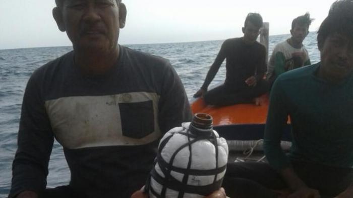 Kapal Nelayan Bawa Bom Ikan di Selat Gelasa Ditangkap Polisi