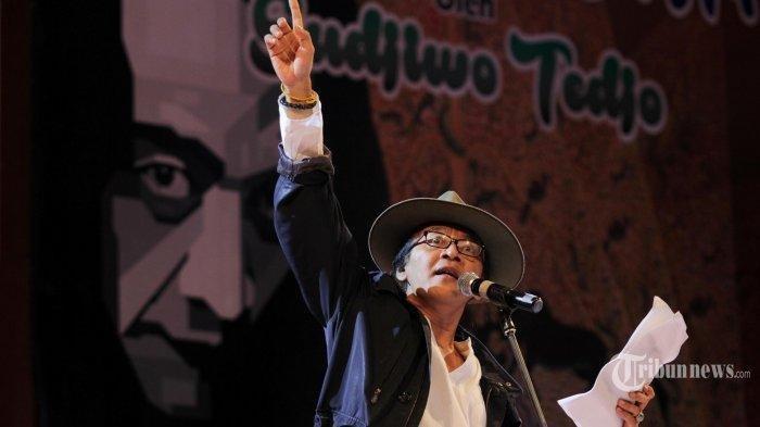 Reaksi Sujiwo Tejo saat Diminta Fokus ke Dunia Seni: Cara Klise-Basi untuk Nyetop Aku Ngritik Sosial