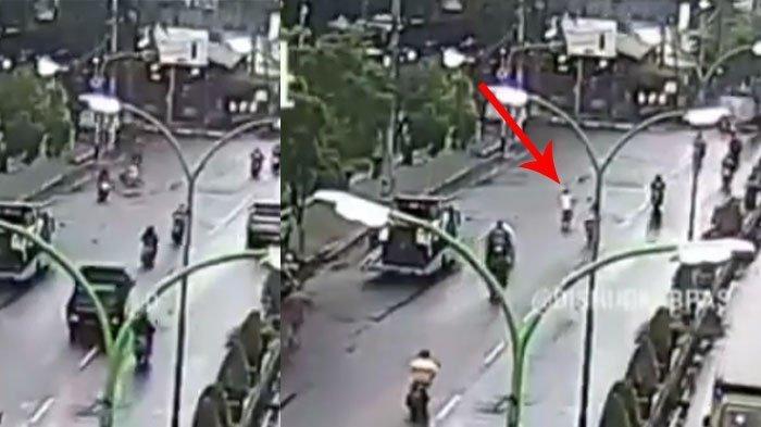 Mengerikan! Detik-detik Aksi Pria Ini Bunuh Diri Terekam CCTV, Sengaja Jatuhkan Diri ke Kolong Truk