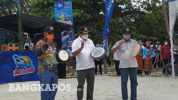 Menteri Kelautan dan Perikanan Sakti Wahyu Trenggono Buka Turnamen Mancing de Belitong 2021