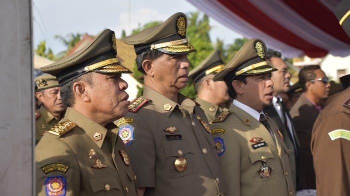 Bupati Belitung Timur Hadiri Peringatan HUT Satpol PP yang Dipimpin Mendagri