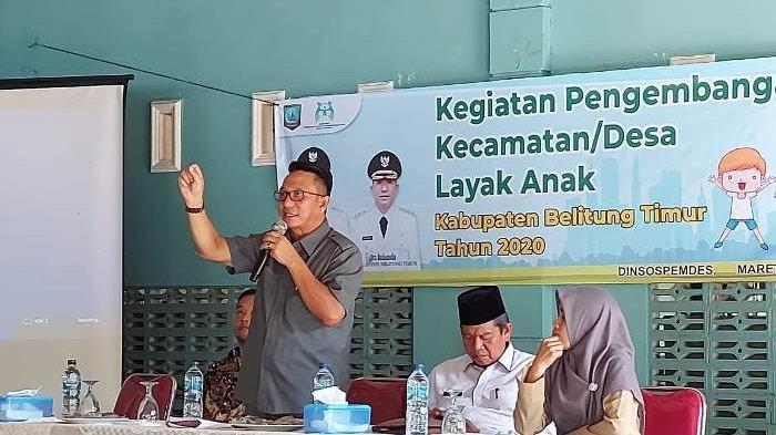Wakil Bupati Belitung Timur Minta Camat dan Kades Evaluasi Terhadap Permasalahan Anak di Wilayahnya